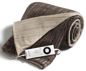 manta eléctrica grande de cama