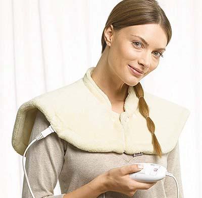 mantas electricas para cuello y hombros